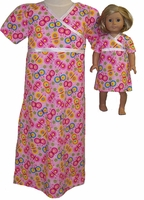 Matching Girl and Doll Clothes Butterfly Nightgown Size 3