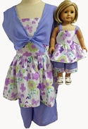 Matching Girl & Doll 3 Piece Outfit Size 8