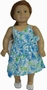Matching Girl And Doll Clothes Blue Flower Sundress Size 8