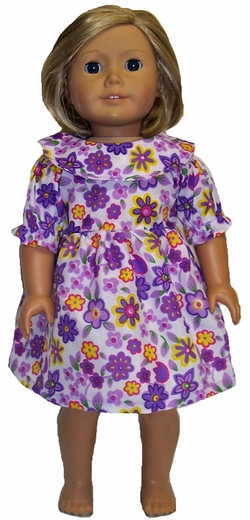 Available For Girls & Dolls Flower Nightgown Size 12