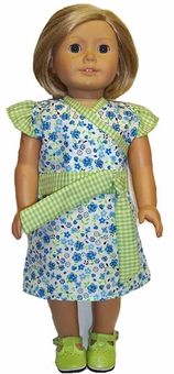 Available for Girls & Dolls Green & Blue Dress Size 6