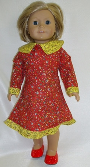 Matching Girl Dolls Red Prairie Style Clothes Size 6