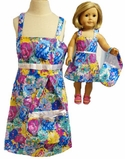 Available for Girls & Dolls Mulit Color Flower Sundress Size 7