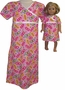 Matching Girls & Dolls Nightgown Size 6