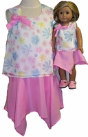 Available For Girls & Dolls Pastel Top & Skirt Size 10