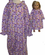 Available For Girls & Dolls Purple Nightgown Size 8