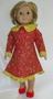 Matching Girls & Dolls Size 5 Prairie Red Dress