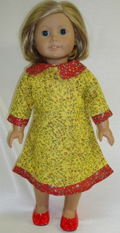 Matching Girls & Dolls Clothes Size 7 Prairie Style Dress