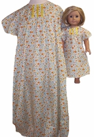Matching Girls & Dolls Clothes Size 8 Nightgown