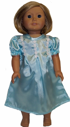 Available For Girls & Dolls Turquoise Nightgown Size 8