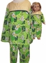 Available Matching Girl Doll Green Pajamas Size 8