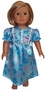 Availalbe Kids & Dolls Pretty Blue Nightgown Size 8