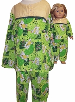 Availalbe Matching Girl Doll Pajamas Size 10