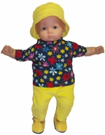 Baby Doll 3 Piece Doll Clothing Set