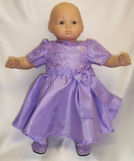 Baby Doll Clothes Lavender Party Dress