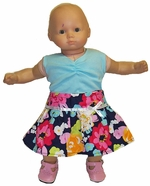 Baby Doll Clothes Skirt & Singlet