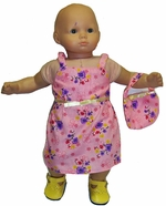 Baby Doll Pink Sundress With Purse