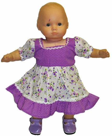 Baby Doll Purple Dot and Flower Dress