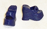 Barbie Doll Blue Clog Shoes