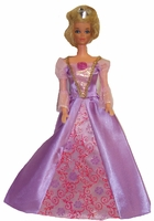 Barbie Doll Evening Lavender & Rose Gown