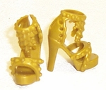 Barbie Doll Gold High Fashion Shoes