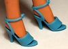 Barbie Doll Periwinkle Shoes