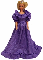 Barbie Doll Purple Gown
