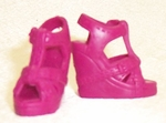 Barbie Doll Raspberry Clog Shoes