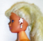 Barbie Doll Star & Pearl Earrings