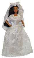 Barbie Doll Wedding Dress With Veil