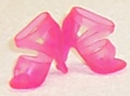 Barbie Doll Shoes Pink Neon Strappy Heels