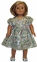 Matching Girl And Doll Clothes Green Silver Dress Size 7