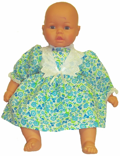 Big Baby Doll Blue Floral Dress