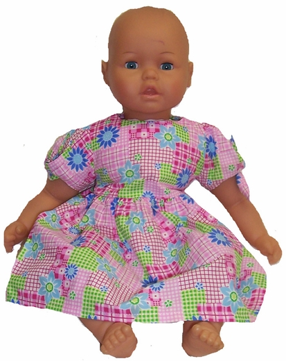 Big Baby Doll Pink Patchwork Dress