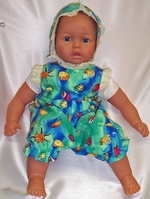 Big Baby Doll Sea Print Romper