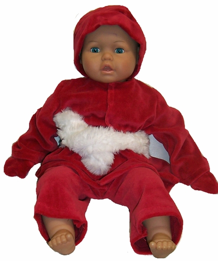 Big Baby Dolls Red Velvet Winter Clothes