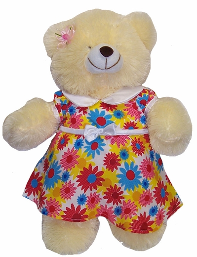 Big Stuffed Bear Flowers Dress