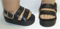 Bitty Baby Black Platform Sandals