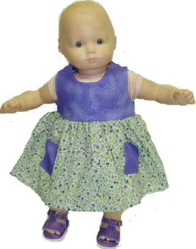Bitty Baby Calico Dress