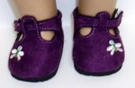 Bitty Baby Doll Purple Suede Shoes