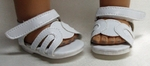 Bitty Baby Doll White Velcro Sandles