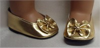 Bitty Baby Gold Bow Shoes