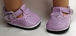 Bitty Baby Lavender Mary Jane Shoes