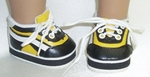 Bitty Baby Yellow Black Jog Shoes