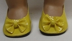 Bitty Baby Yellow Bow Shoes