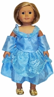 Blue Princess Dress for American Girl Dolls