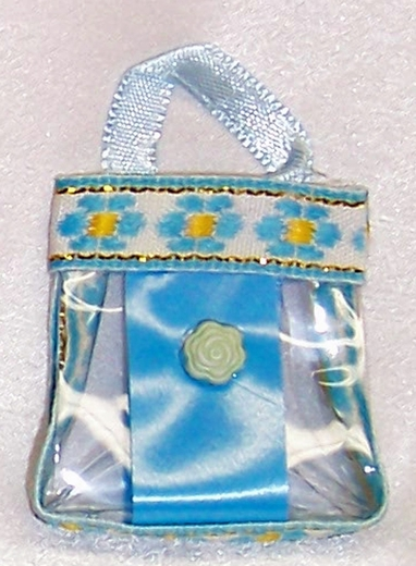 Blue Purse For Barbie Dolls