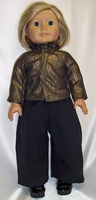 Bronze blouse Black Pants For American Girl Dolls