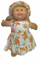 Cabbage Patch Kid Doll Dress And Hat