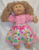 Cabbage Patch Kid Doll Dress Pink & Perky